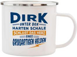 H H Echter Kerl Emaille Becher Dirk