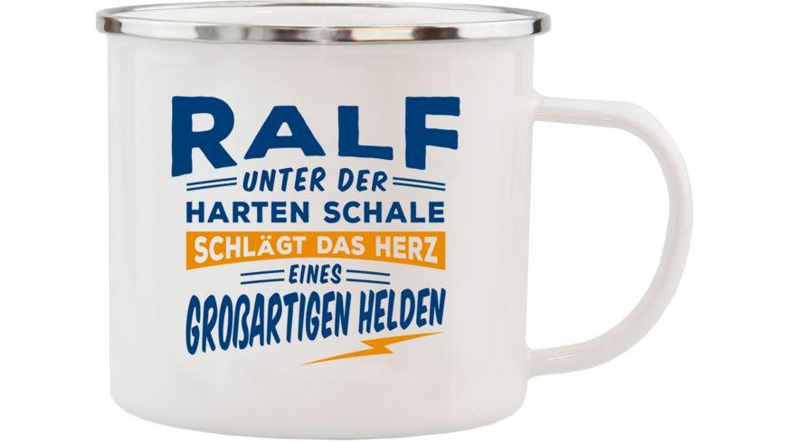 H H Echter Kerl Emaille Becher Ralf