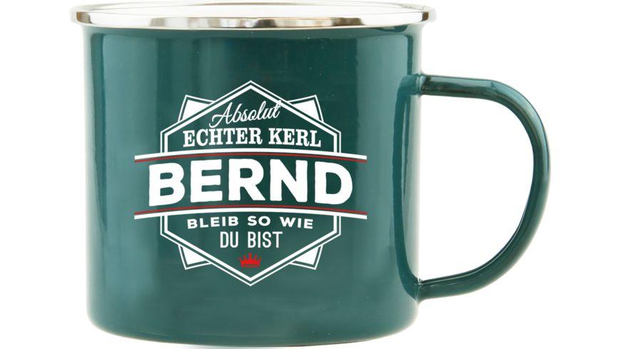 H H Echter Kerl Emaille Becher Bernd