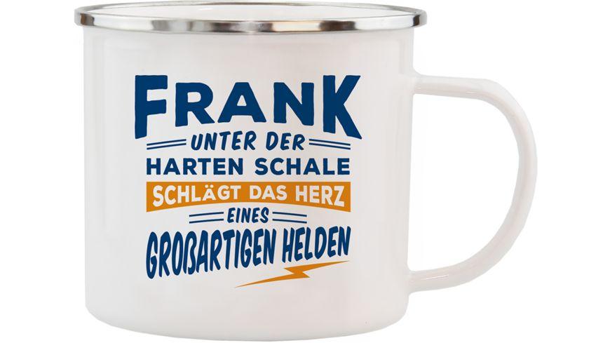 H H Echter Kerl Emaille Becher Frank