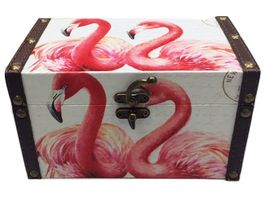 Holzbox Flamingo