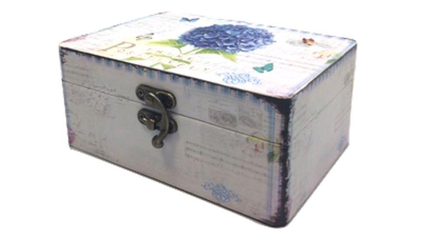 Holzbox Hortensien