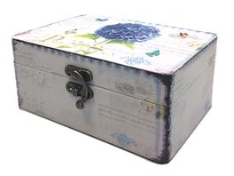 Holzbox Hortensilie 16 x 11 x 7cm