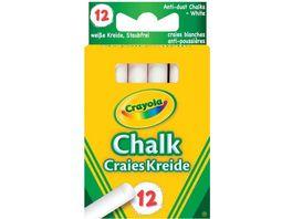 Crayola Kreide weiss staubfrei 12 Stueck