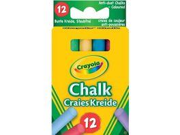 Crayola Kreide bunt staubfrei 12 Stueck