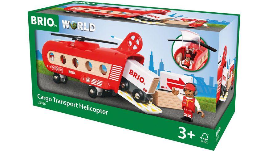 BRIO Bahn Eisenbahn Transporthubschrauber