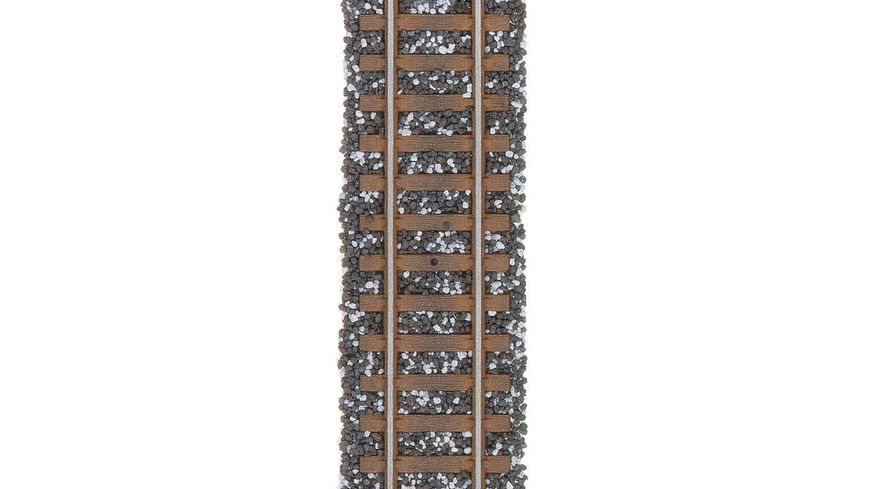 Busch 7124 Modellbahnzubehoer Schottermischung schwarz grau
