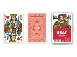 ASS Altenburger Spielkarten Skat franzoesisches Bild Leinenpraegung