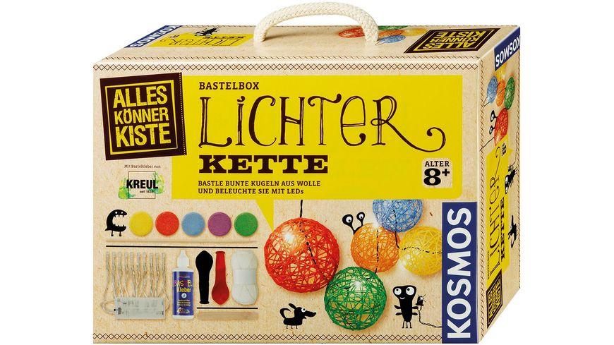 KOSMOS - Lichterkette - Bastle bunte Kugeln aus Wolle und beleuchte sie mit LEDs