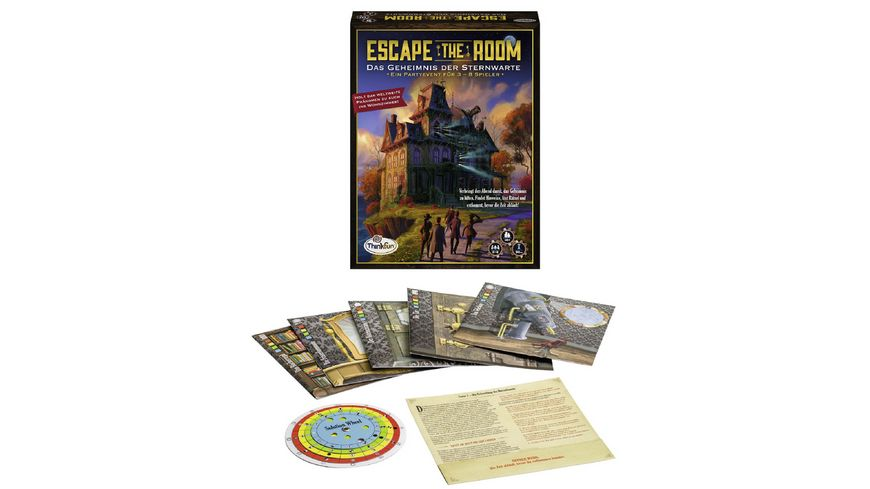 ThinkFun Escape the Room Das Geheimnis der Sternwarte