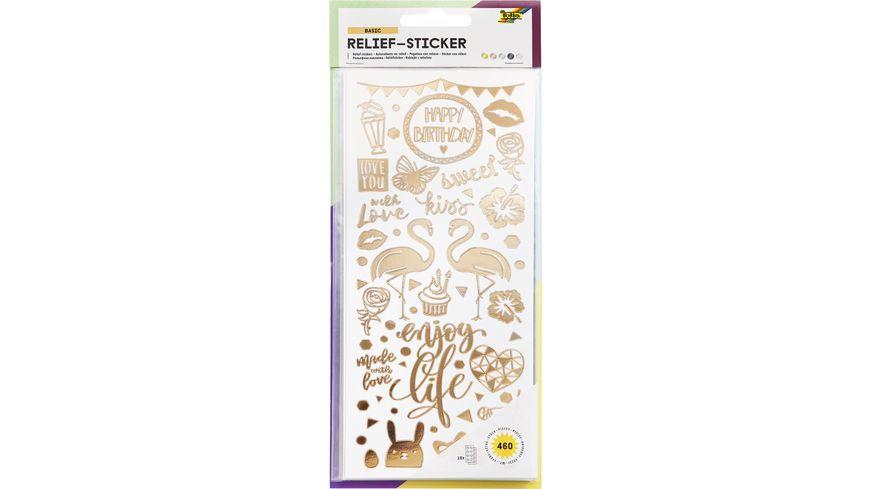 folia Relief-Sticker Ganzjahr-Motive 10 Blatt