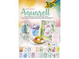 folia Motivblock Aquarell 24 x 34cm