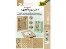 folia Motivblock Kraftpapier A4