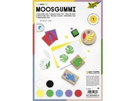 folia Moosgummi A4 7 Blatt farblich sortiert