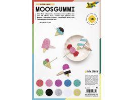 folia Glitter Moosgummi 20 x 29cm farblich sortiert