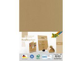 folia Kraftkartonblock A4 50 Blatt