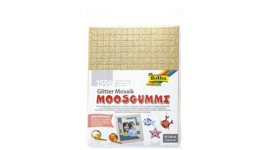 folia Glitter Moosgummi Mosaik farblich sortiert