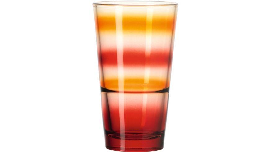 LEONARDO Becher rot orange Event