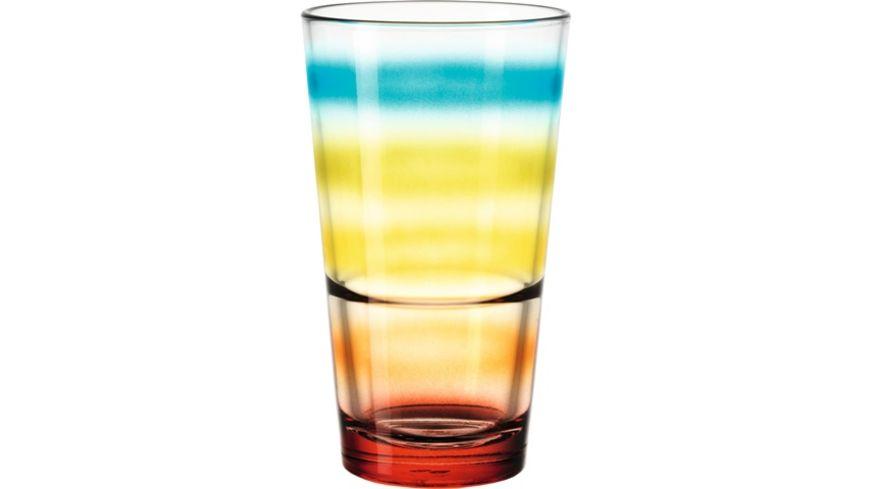 LEONARDO Becher farbig Event gestreift