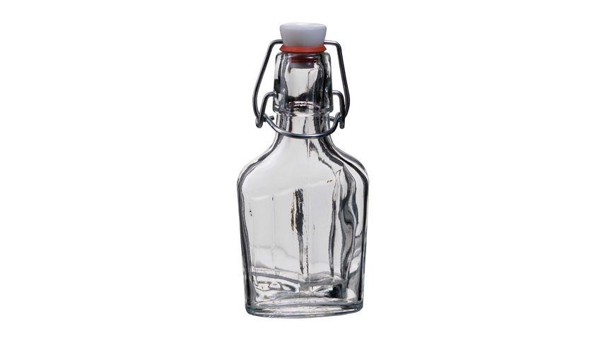 MAeSER Glasflasche Fiaschetta Buegelverschluss 0 1 l