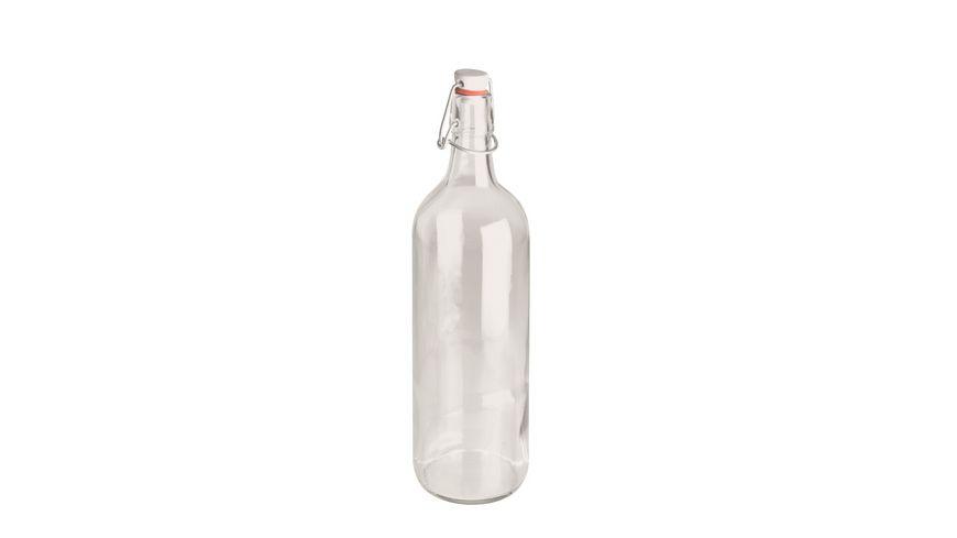 MAeSER Glasflasche Spirit Buegelverschluss 1 0l