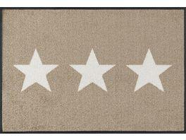wash dry Fussmatte Stars sand 50x75cm
