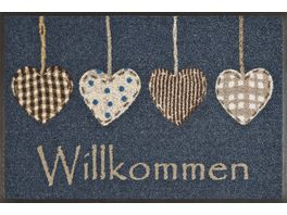 wash dry Fussmatte Cottage Hearts 50x75cm
