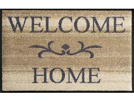 wash dry Fussmatte Welcome Home beige 50x75cm