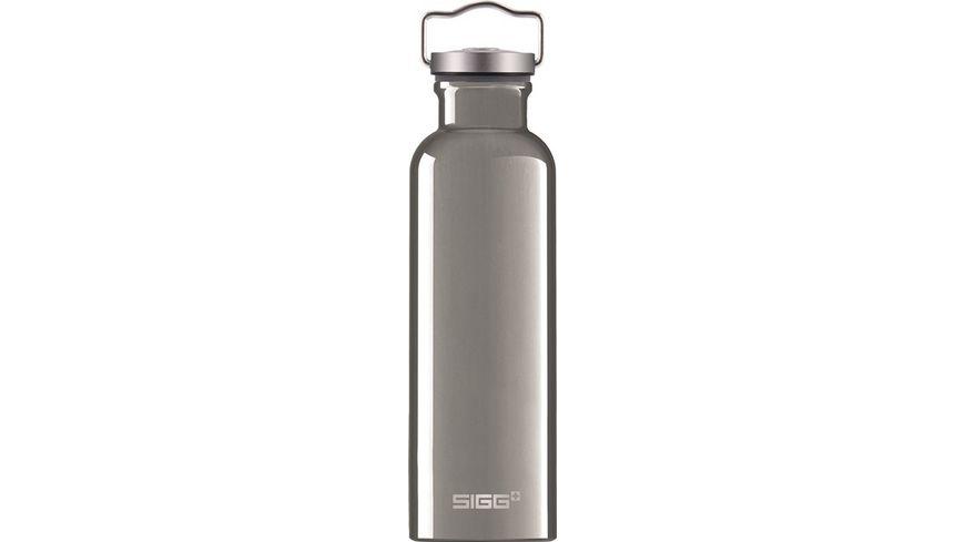 SIGG Trinkflasche Aluminium Original silber 0 75 l