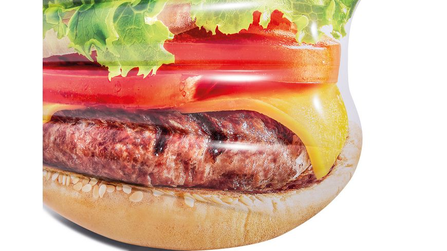 Intex Badeinsel Hamburger 145 x 142 cm