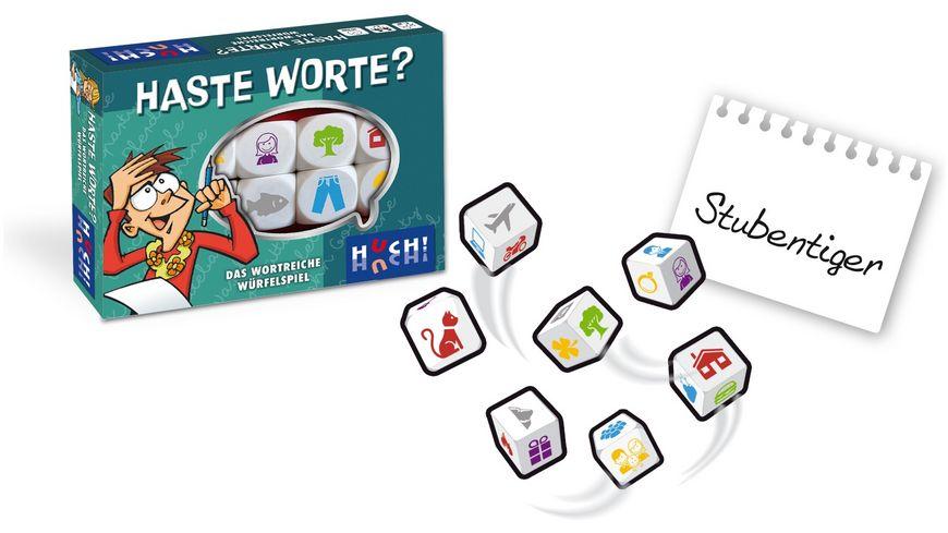 Huch Verlag Haste Worte Das wortreiche Wuerfelspiel