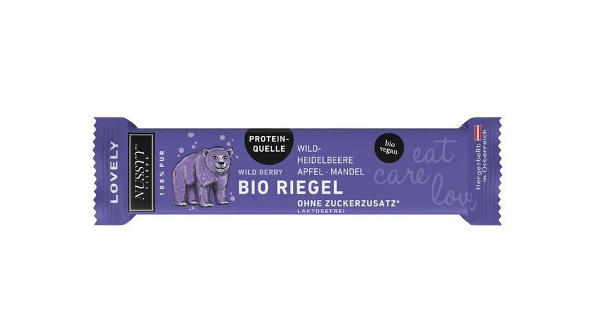 NUSSYY Bio Riegel Lovely Wild Berry