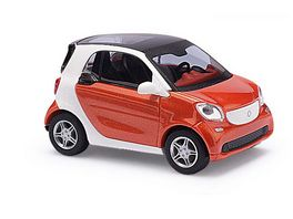 Busch 50701 Automodell Smart Fortwo Coupe C453 CMD Rotorange