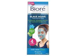 Biore Tonerde Waerme Maske mit Blaue Agave Backpulver