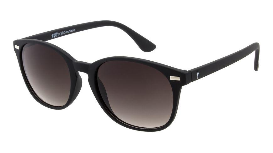 GNTM Sonnenbrille Schwarz mit gummierter Oberfläche