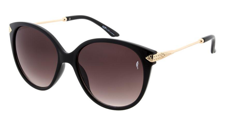 GNTM Sonnenbrille schwarz mit Metallbuegel in gold