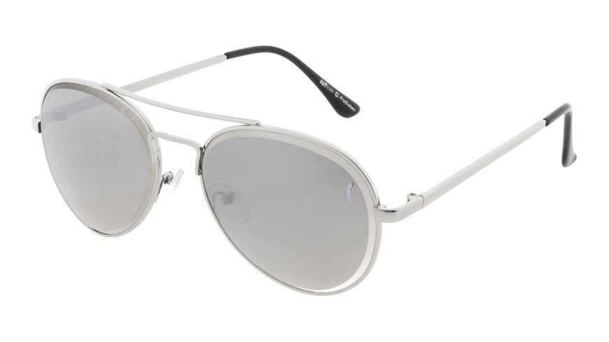 GNTM Sonnenbrille silber verspiegelten Glaesern