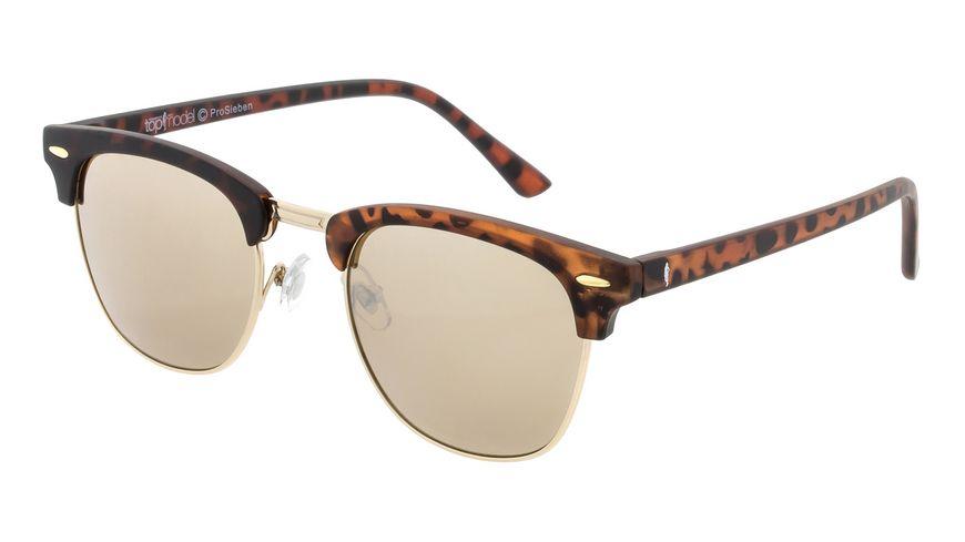 GNTM Sonnenbrille Havanna mit verspiegelten Verlaufsglaesern
