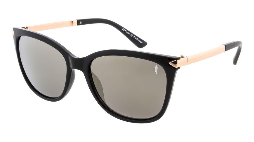 GNTM Sonnenbrille schwarz mit rosegoldenen Buegeln