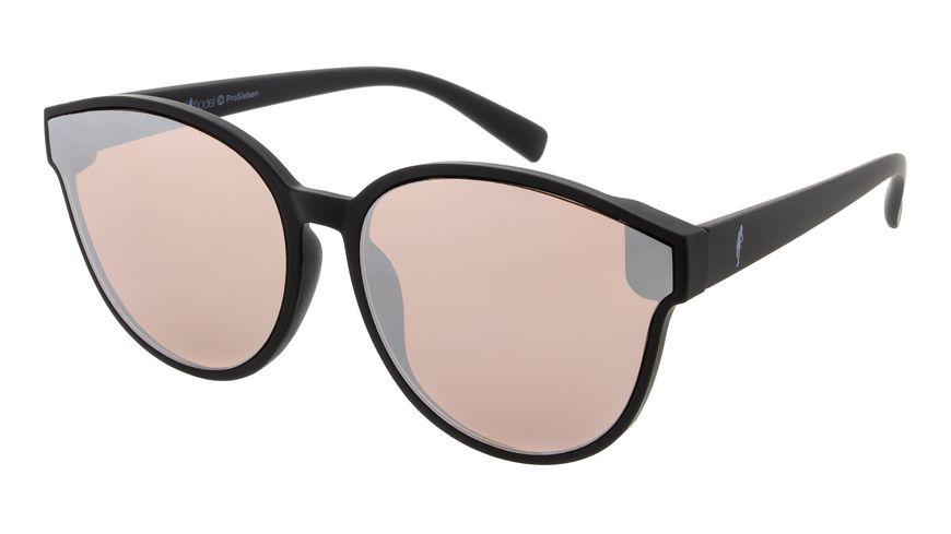 GNTM Sonnenbrille matt schwarz mit verspiegelten Glaesern