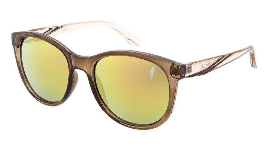 GNTM Sonnenbrille braun mit verspiegeltem Glas