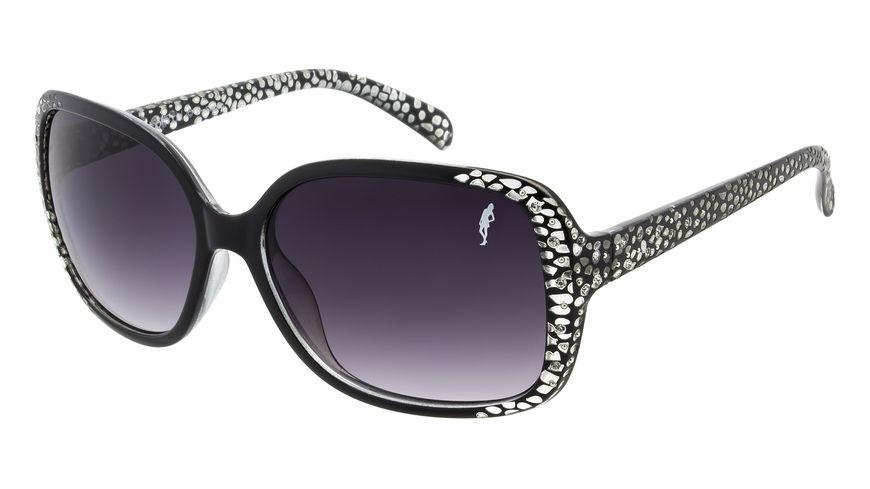 GNTM Sonnenbrille schwarz mit Glitzerstein