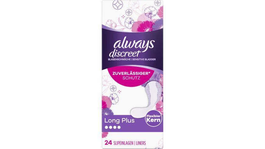 Always Discreet Inkontinenz Slipeinlagen Long Plus 24 Bei Blasenschwaeche