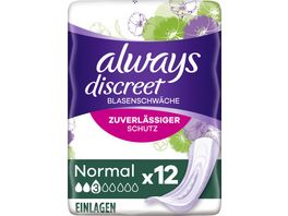 always Discreet Inkontinenz Normal 12 Stueck