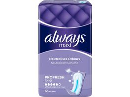 Always Maxi Profresh Long Binden Ohne Fluegel 12 Stueck
