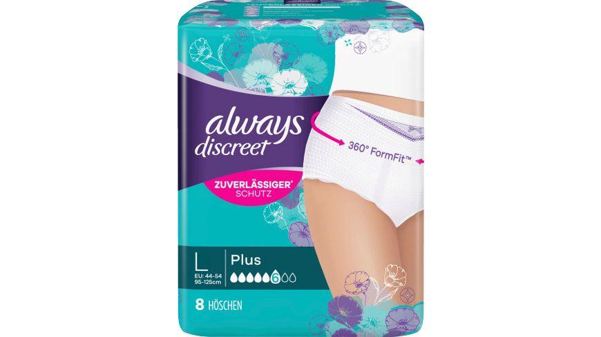 always Discreet Inkontinenz Pants Plus L 8 Stueck