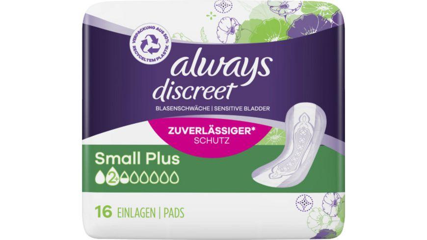 always Discreet Inkontinenz Small Plus 16 Stueck