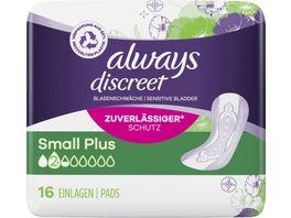 Always Discreet Inkontinenz Einlagen Small Plus