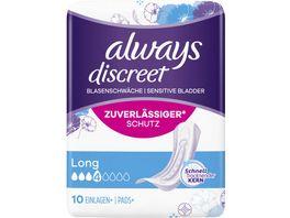 Always Discreet Inkontinenz Einlagen Long
