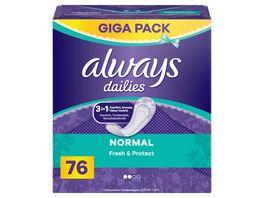 Always Fresh Protect Normal Slipeinlagen 76 Stueck